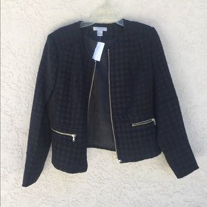 H&M Women's Black Zip up Jacket Size 14
